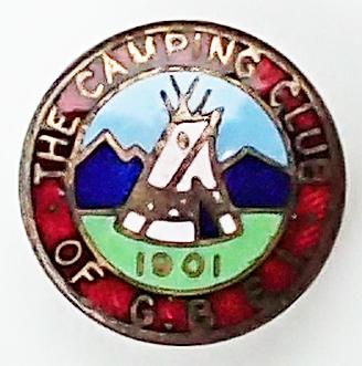 Small lapel enamel club badge. 1920 – 1983