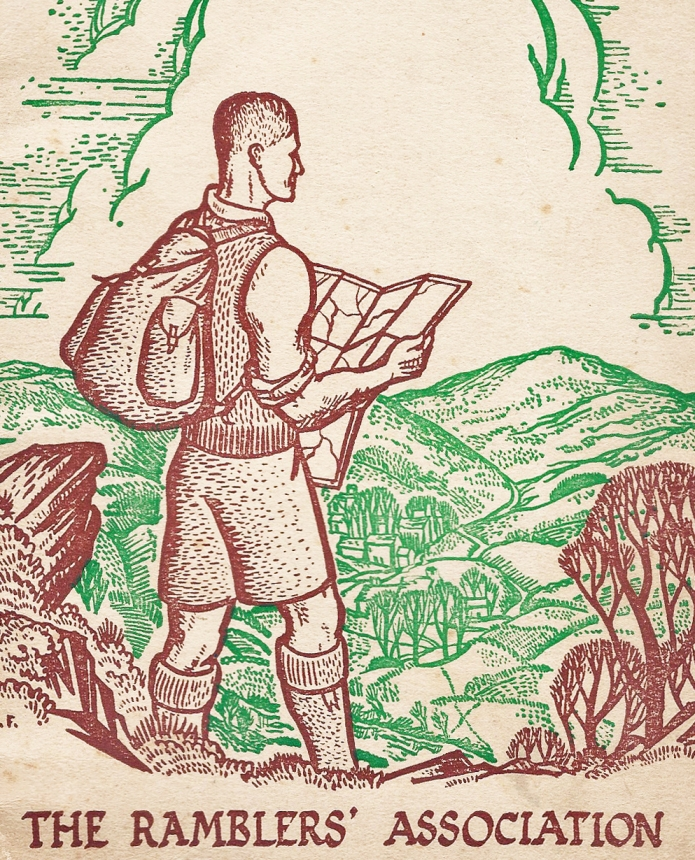 Cover of Ramblers' book on navigation, 1946
